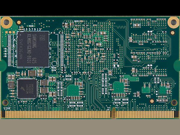 VAR-SOM-MX7 : Unterseite mit eMMC