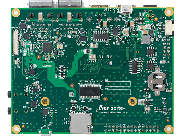 VAR-SOM-AM43 bottom ARM Single Board Computer